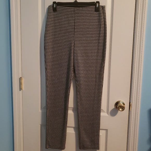 H&M Houndstooth High-rise Black/White Knit Pant
